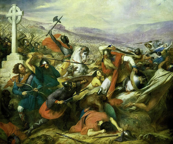 Wall Art - Painting - The Battle Of Poitiers by Charles de Steuben