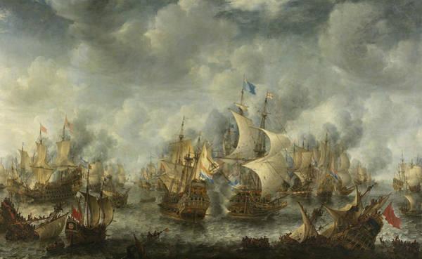 Wall Art - Painting - The Battle Of Ter Heijde by Jan Abrahamsz Beerstraaten
