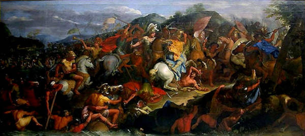 Painting - The Battle Of The Granicus by Charles le Brun