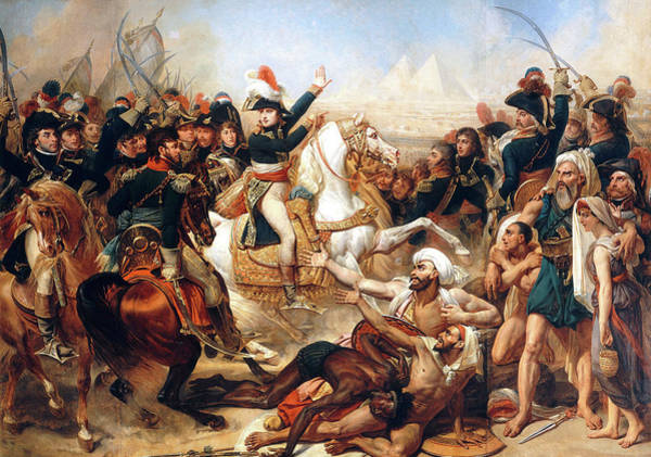 Wall Art - Painting - The Battle Of The Pyramids, 1798 by Antoine-Jean Gros