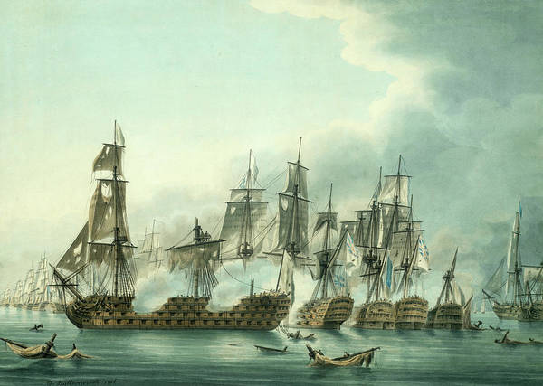 Wall Art - Painting - The Battle Of Trafalgar, Late In The Action by Thomas Buttersworth