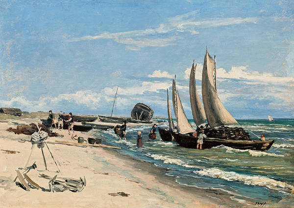 Wall Art - Painting - The Beach At Skagen Vesterby by Martinus Rorbye
