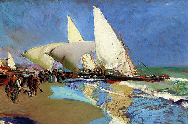 Wall Art - Painting - The Beach At Valencia - Digital Remastered Edition by Joaquin Sorolla