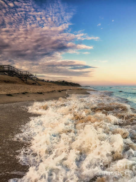 Photograph - The Beach Crash In Montauk, Ny by Alissa Beth Photography
