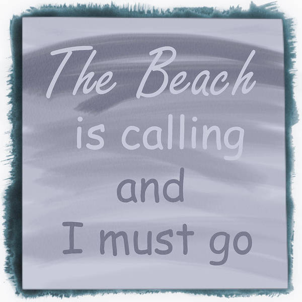 Digital Art - The Beach Is Calling And I Must Go Cottage Pale Tones by Debra and Dave Vanderlaan