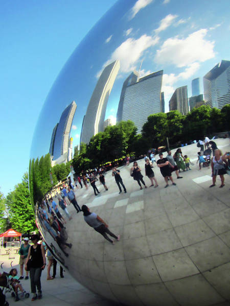 Photograph - The Bean Cloud Chicago by Marilyn Hunt