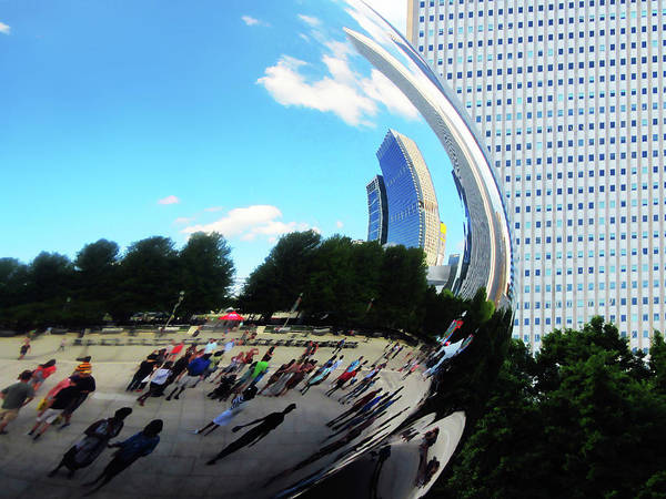 Photograph - The Bean In Chicago by Marilyn Hunt
