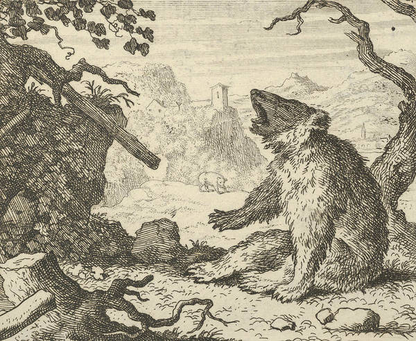 Relief - The Bear Calls Renard To Appear Before The Council Of The Animals by Allaert van Everdingen