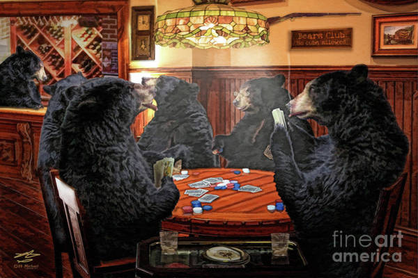 Pool Mixed Media - The Bears Club by Michael A Woodside