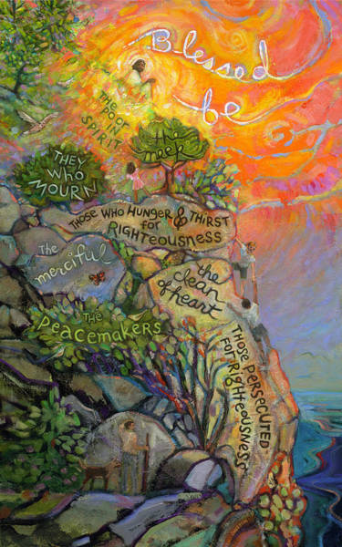 Wall Art - Painting - The Beatitudes by Jen Norton