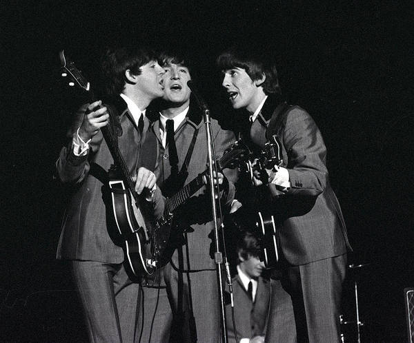 George Harrison Photograph - The Beatles 1964 Us Tour. L-r Paul by Popperfoto
