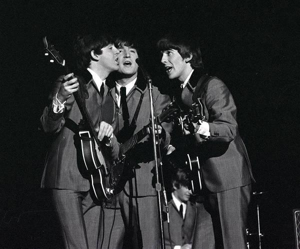 Photograph - The Beatles 1964 Us Tour. L-r Paul by Popperfoto
