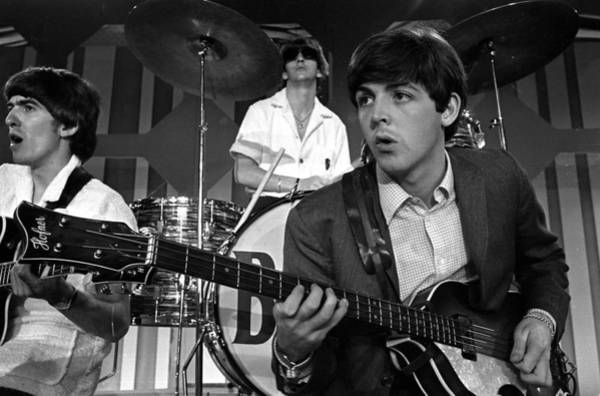 Photograph - The Beatles 1964 Us Tour. Paul by Popperfoto