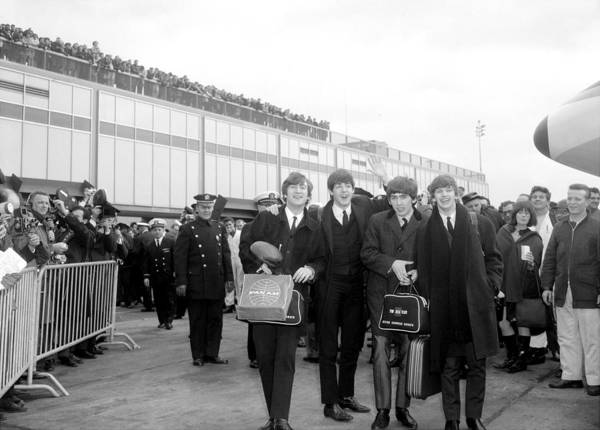 Queen Photograph - The Beatles Arrive At Kennedy Airport by New York Daily News Archive