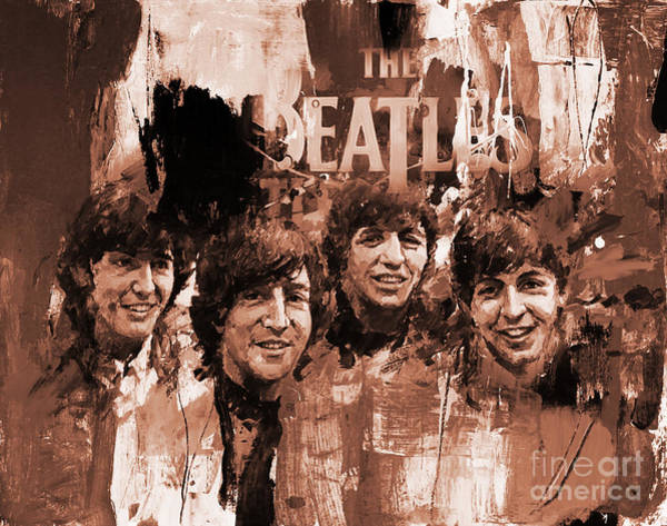 Rockstar Painting - The Beatles Art  by Gull G