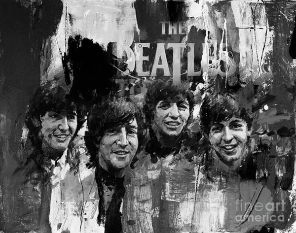 Rockstar Painting - The Beatles Bk by Gull G
