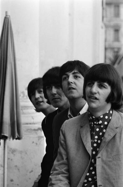 Photograph - The Beatles European Tour by Reporters Associes