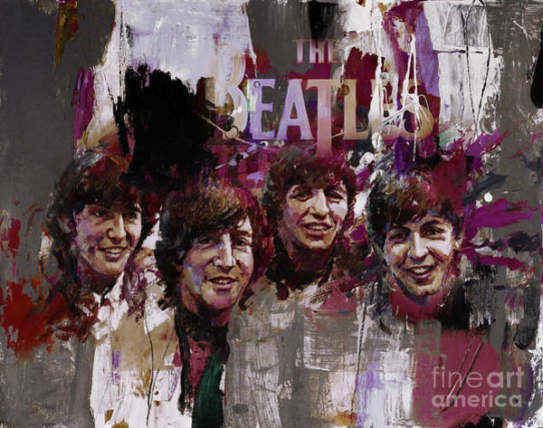 Rockstar Painting - The Beatles  by Gull G