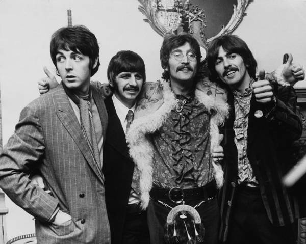 Released Photograph - The Beatles In 1967 by Keystone-france