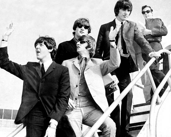 Photograph - The Beatles, L. To R. Paul Mccartney by New York Daily News Archive