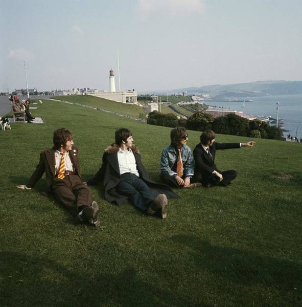 Photograph - The Beatles On Plymouth Hoe by David Redfern