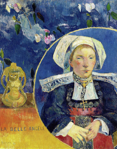 Wall Art - Painting - The Beautiful Angele - Digital Remastered Edition by Paul Gauguin