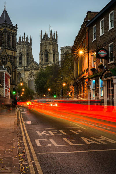 Wall Art - Photograph - The Beautiful City Of York In England During Rush Hour. by George Afostovremea