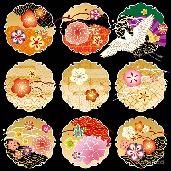 The Beautiful Pattern Of Japan Art Print