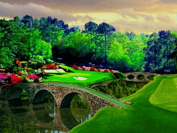 British Open Digital Art - The Beauty Of The Masters 2 by Ron Chambers