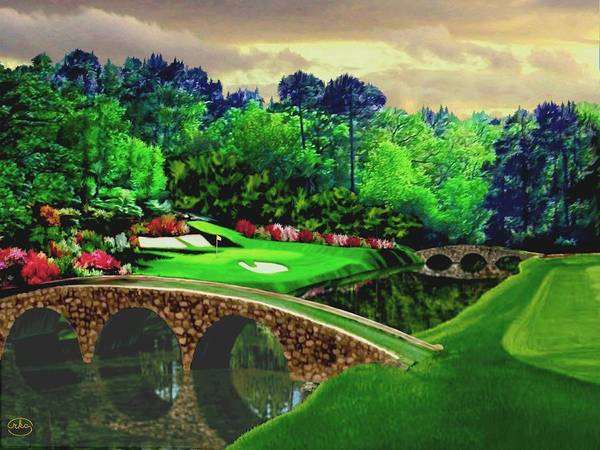 Course Wall Art - Painting - The Beauty Of The Masters by Ron Chambers