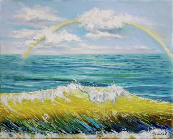 Wall Art - Painting - The Beauty Of The Wave by Carole Sluski