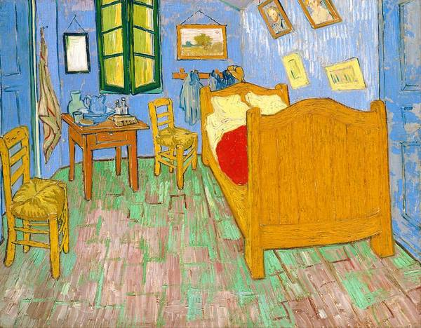 Wall Art - Painting - The Bedroom At Arles - Digital Remastered Edition by Vincent van Gogh
