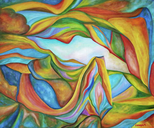 Wall Art - Painting - The Beginning. Colorful. Colorful And Over 30 Monochromatic. by SurfArtTango Marina Lisovaya