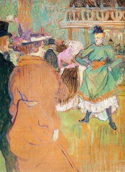 Wall Art - Painting - The Beginning Of The Quadrille At The Moulin Rouge - 1892 - National Gallery Of Art - Washington Dc  by Henri de Toulouse-Lautrec