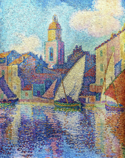 Neo-impressionism Wall Art - Painting - The Bell Tower Of Saint-tropez - Digital Remastered Edition by Paul Signac