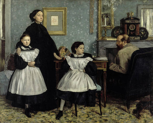Wall Art - Painting - The Bellelli Family, 1869 by Edgar Degas