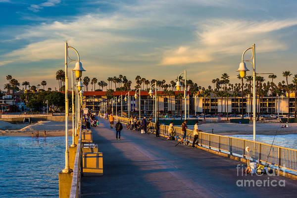Ocean City Wall Art - Photograph - The Belmont Pier In Long Beach by Jon Bilous