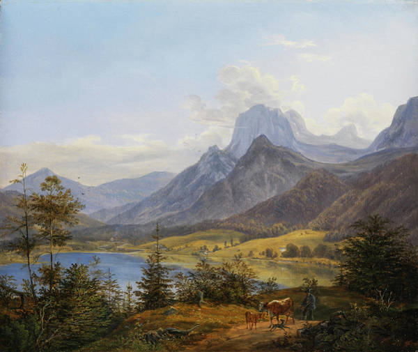 Painting - The Bergsee  by Johann Nepomuk Ott