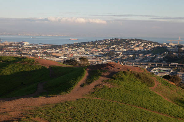 Wall Art - Photograph - The Bernal Heights Hill Offers A Great View Of The City by Kim Vermaat