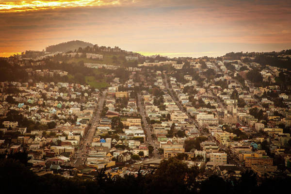 Wall Art - Photograph - The Bernal Heights Hill Offers A Great View Of The City With His by Kim Vermaat