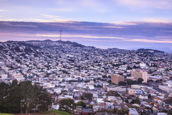 Wall Art - Photograph - The Bernal Heights Hill Offers A Great View Of The City With Whi by Kim Vermaat