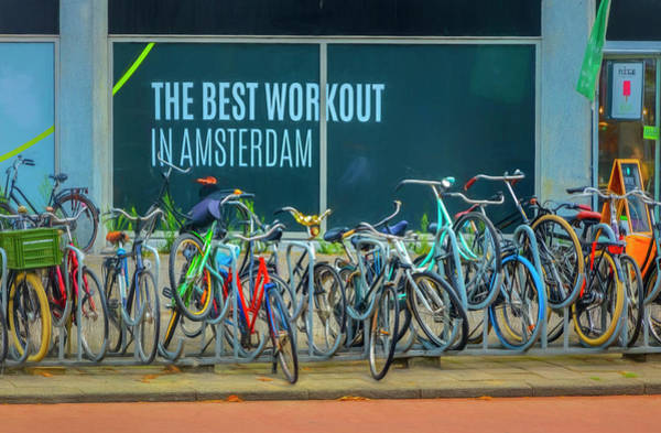 Photograph - The Best Workout In Amsterdam Painting by Debra and Dave Vanderlaan