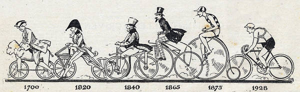 Bicycle Digital Art - The Bicycle Through The Ages, Bicycle by Leemage