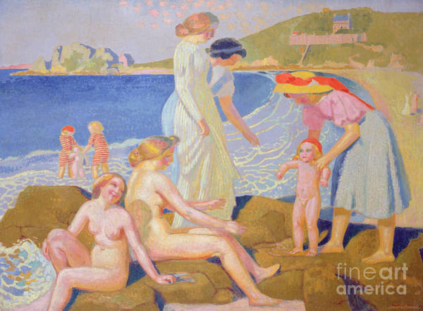 Wall Art - Painting - The Big Beach, 1912  by Maurice Denis