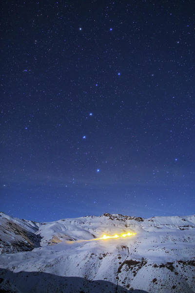 Wall Art - Photograph - The Big Dipper Above A Snow-covered by Jeff Dai