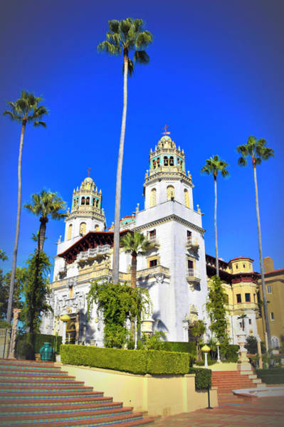 Photograph - The Big House At Hearst Castle Vintage Look by Floyd Snyder