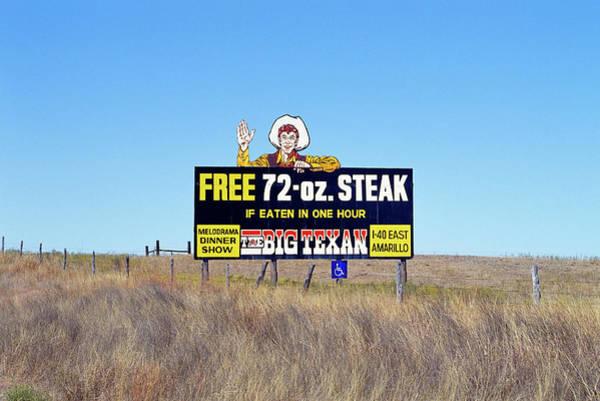 Wall Art - Photograph - The Big Texan Steak Ranch Billboard by Car Culture