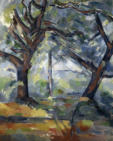 Wall Art - Painting - The Big Trees, 1904 by Paul Cezanne