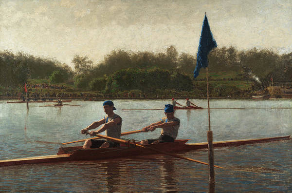 Wall Art - Painting - The Biglin Brothers Turning The Stake, 1873 by Thomas Eakins