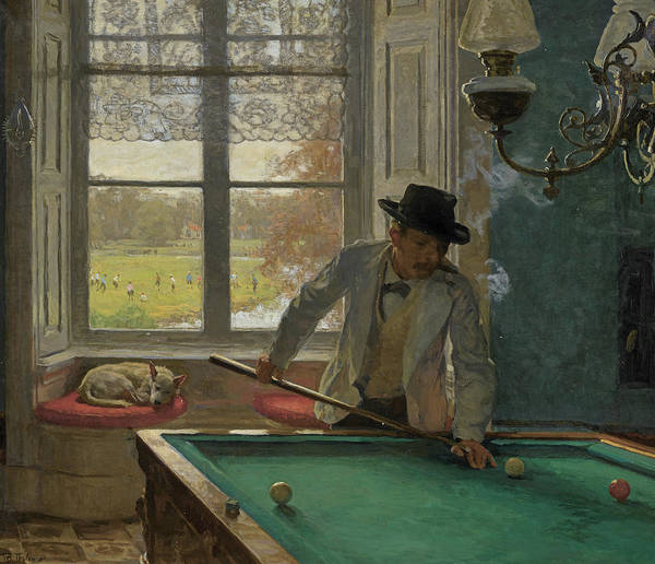 Wall Art - Painting - The Billiards Player by Willem Bastiaan Tholen